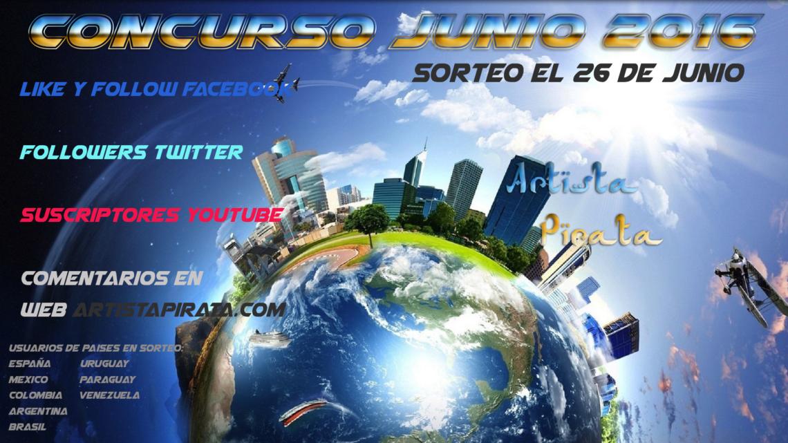 concurso facebook ARTISTAPIRATA JUNIO