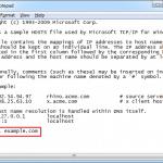 editar archivos hosts windows