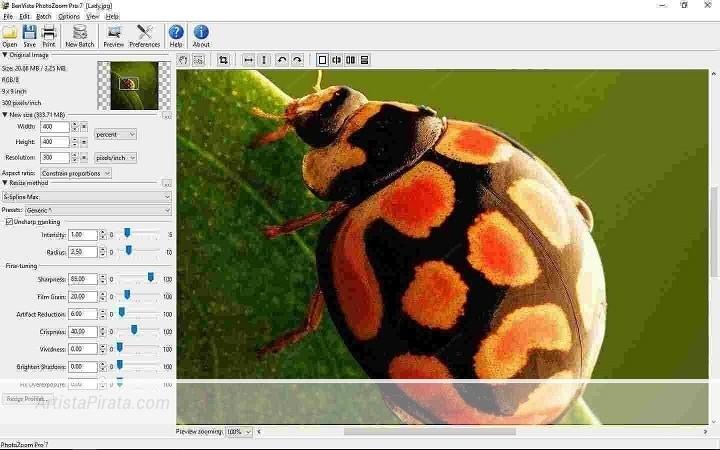 PhotoZoom PRO 7 - Aumenta tamaño de fotos sin perder calidad