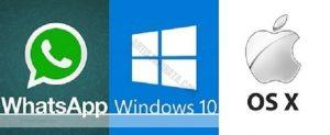 whatsapp para mac osx y windows