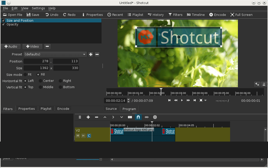 ShotCut-18 editor de video gratis mediafire