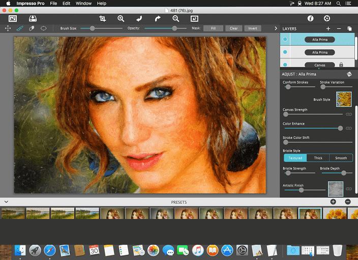 MAC OSX - Impresso PRO 1.8.2 pincel impresionista para mac osx