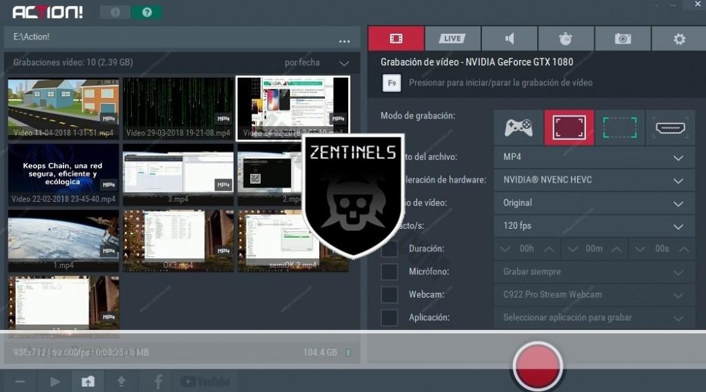 Mirillis Action! 3.1 - Programa para grabar Escritorio y Gameplays mirillis action serial parche mega