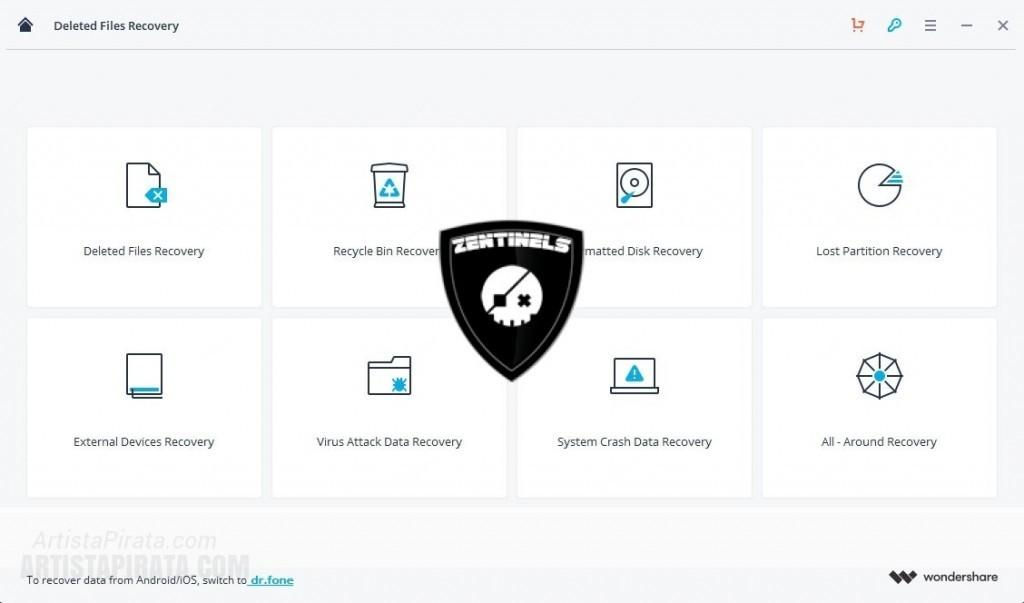 Wondershare Recoverit 7 - Recuperar archivos eliminados recuperar disco duro formateado