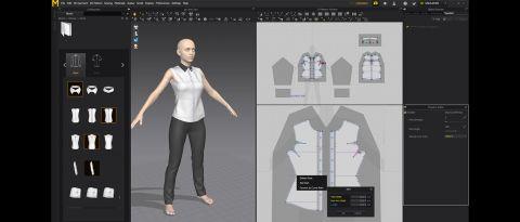 marvelous designer 7 crear ropa 3D para modelos crear vestido en 3d rapido