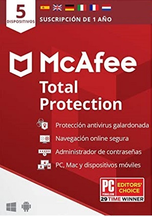 licencia mcafee total protection