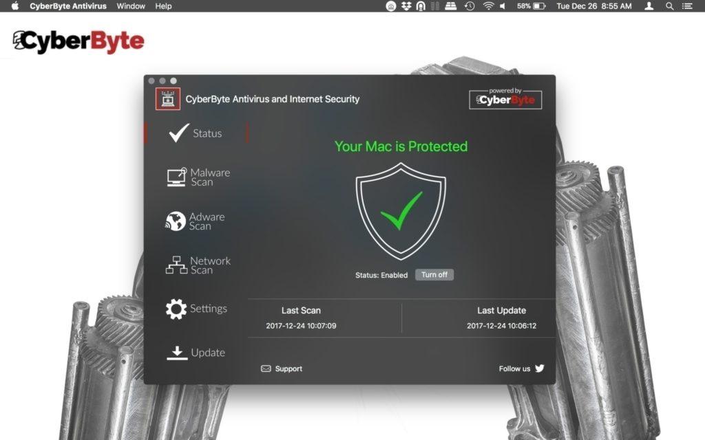 cyberbyte internet security 2.5 premium - antivirus para mac