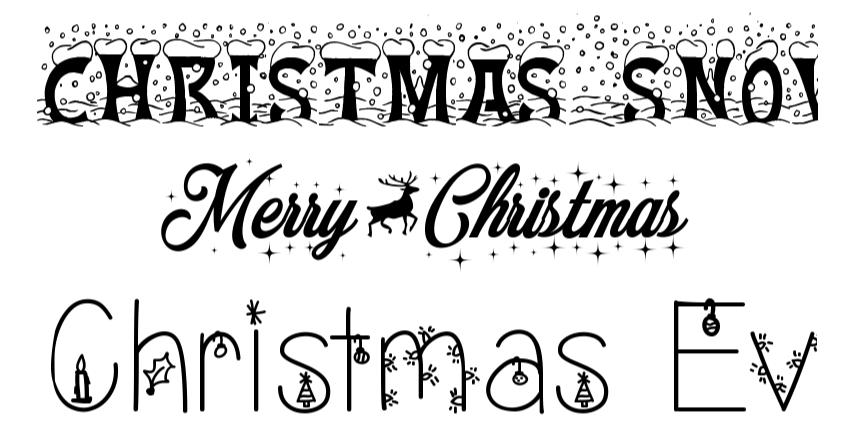 navidad artistapirata fuentes navideñas letras navideñas