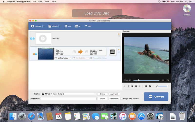 anymp4 dvd ripper mac - dvd a mp4 en mac