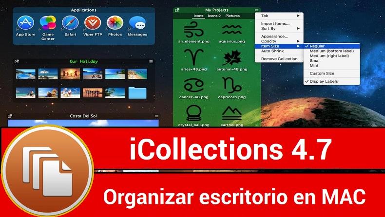 icollection 4.7 full mac - organizar escritorio mac