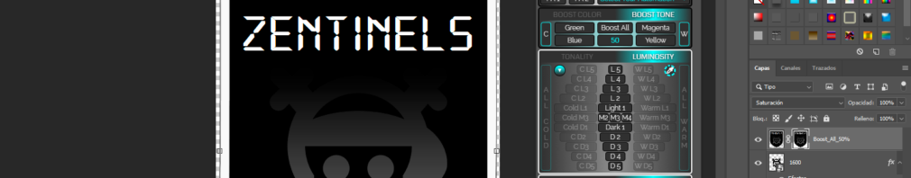 tonality masks panel v3 full mega - mac y windows