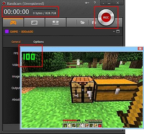 bandicam 4 grabar gameplays minecraft