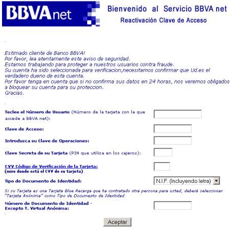 fraude proteccion - estafas bbva