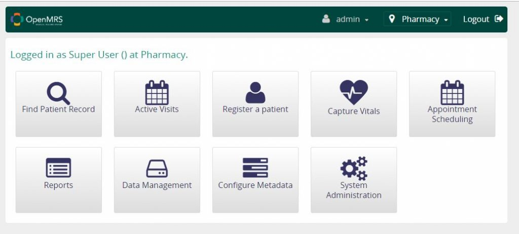 openmrs - crear registro clinico - software para farmacias
