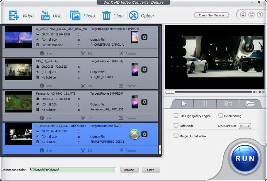winhx video converter deluxe - conversor de video para windows