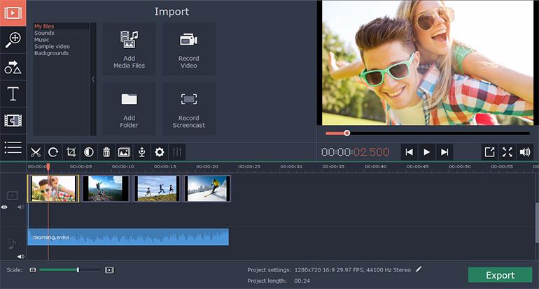 movavi video editor business