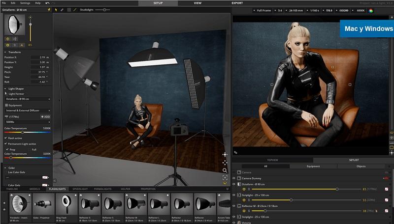 set a light 3d studio full
