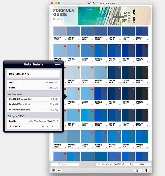 pantone color manager mac