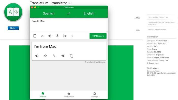 traductor para mac