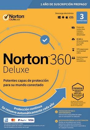 licencia norton 360 deluxe