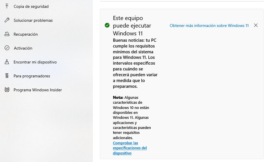 Actualizar a Windows 11 gratis
