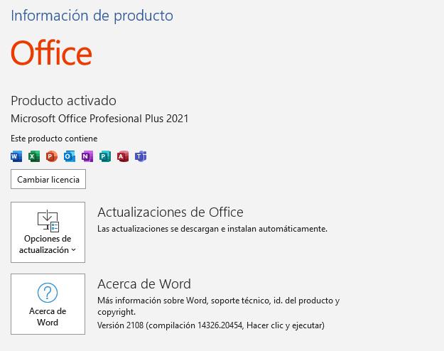 licencia office 2021 pro plus